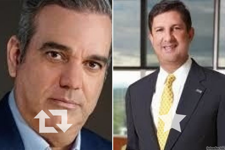 Luis Abinader y Manuel Estrella