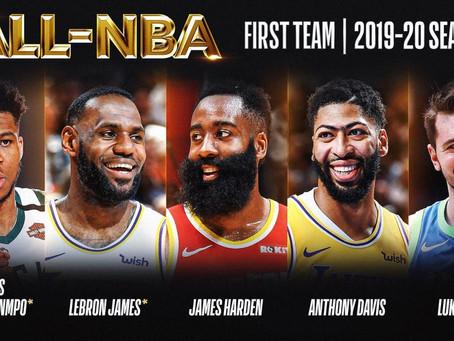 La NBA revela los mejores quintetos de la temporada 2019-20