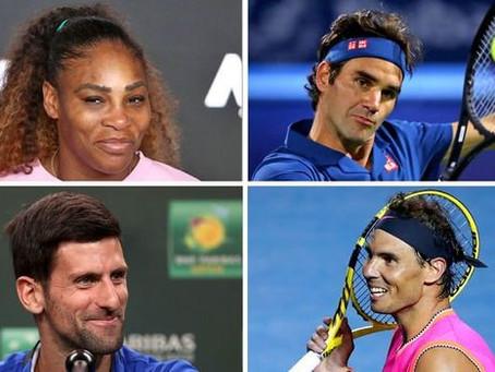 Djokovic, Nadal, Federer y Serena a cuartos de final