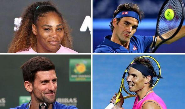 Djokovic, Nadal, Federer y Serena
