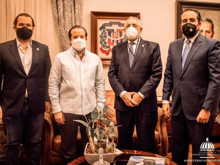 Presidente de Lidom se reùne con Ministro José Paliza