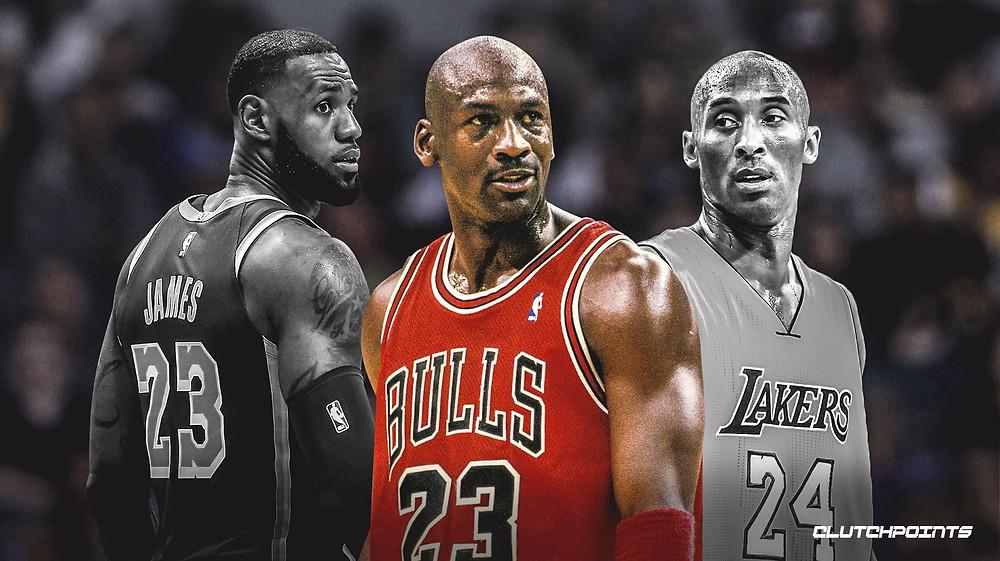 Michael Jordan, LeBron James, Kobe Bryant+++++++
