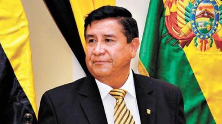 Presidente de la Federación boliviana César Salinas