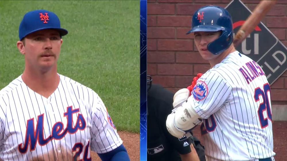 Pete Alonso antes y después de la afeitada