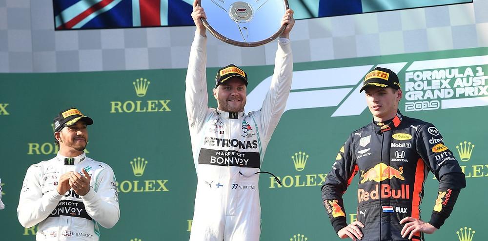 Valtteri Bottas celebra su triunfo en el Gran Premio de Australia, que abrió la temporada 2018 de la Fórmula 1. (EFE)