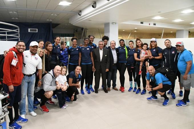 Las jugadoras fueron recibidas por el presidente del Proyecto de Selecciones Nacionales