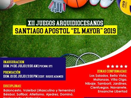"""XII Juegos Deportivos Arquidiocesanos Santiago Apóstol """"El Mayor"""" 2019"""