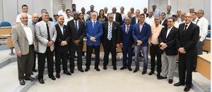 Luisín Mejía encabezó el encuentro en Santiago donde se acordó solicitar la sede de los Juegos Centroamericanos y del Caribe 2026.