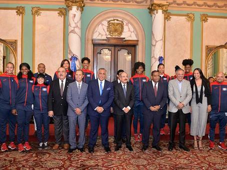 El presidente de la República recibirá a los atletas hoy lunes en el Palacio Presidencial.