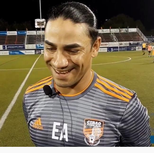 Edward Acevedo director Tecnico de CIBAO FC