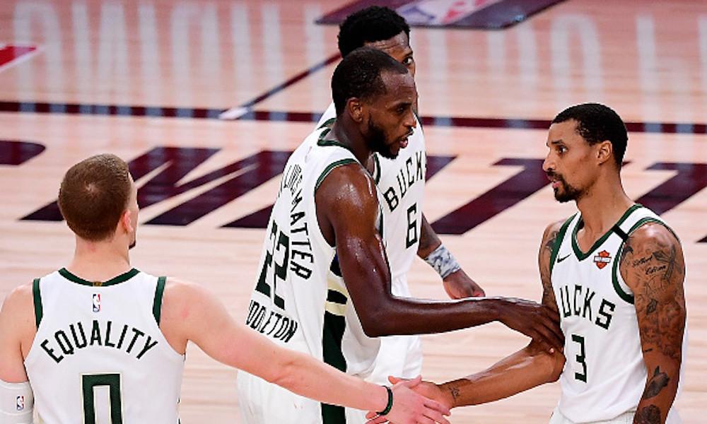 Milwaukee Bucks perdió a Giannis Antetokounmpo, pero se las arregló con Khris Middleton para ganarle a Miami Heat y seguir en carrera