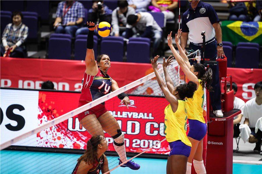 Las Reinas del Caribe perdieron este lunes 3-1 (25-16, 23-25, 25-19, 25-22) ante la selección de Brasil