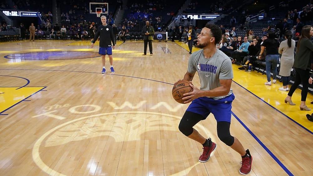 El regreso del jueves parecía probable después de que Curry tuvo el lunes a una práctica con la filial de la Liga G de los Warriors en Santa Cruz.