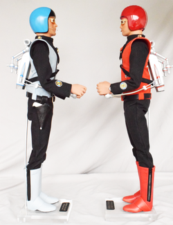 Captains Blue and Scarlet with Jetpacks