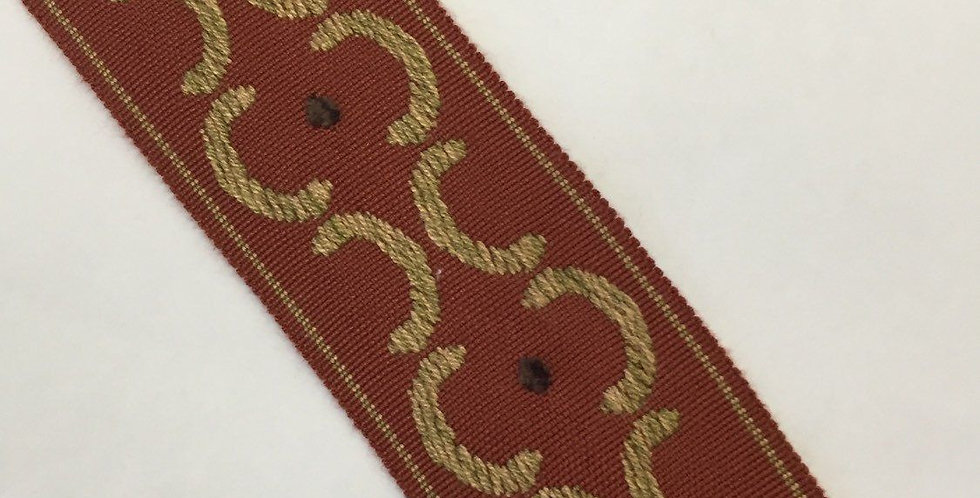 Spice Old World Woven Flat Braid