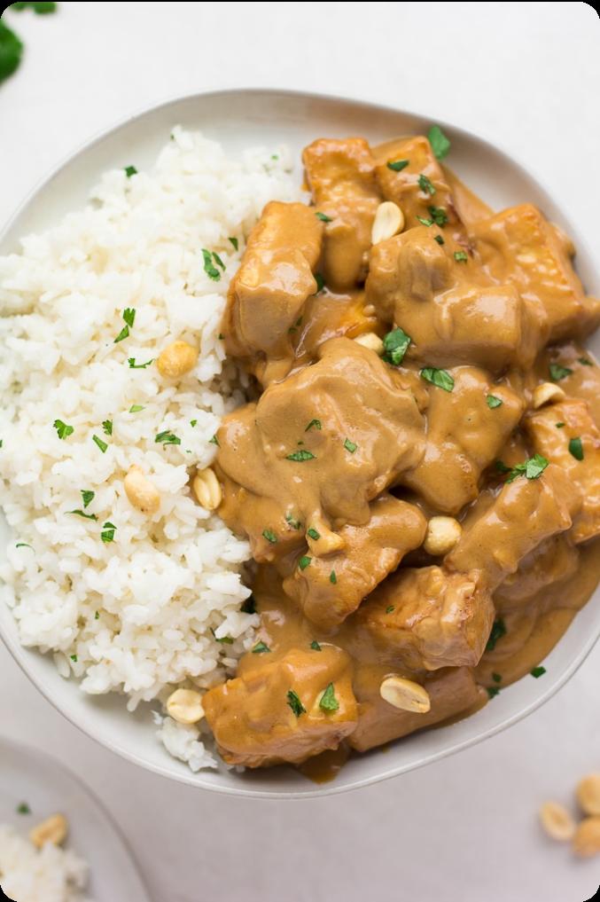 Tofu Satay with Rice