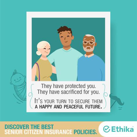 Ethika insurance + Senior Citizen