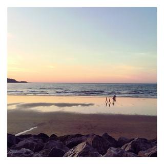 Les longues plages d'Hendaye, un parfum de souvenirs d'enfance.