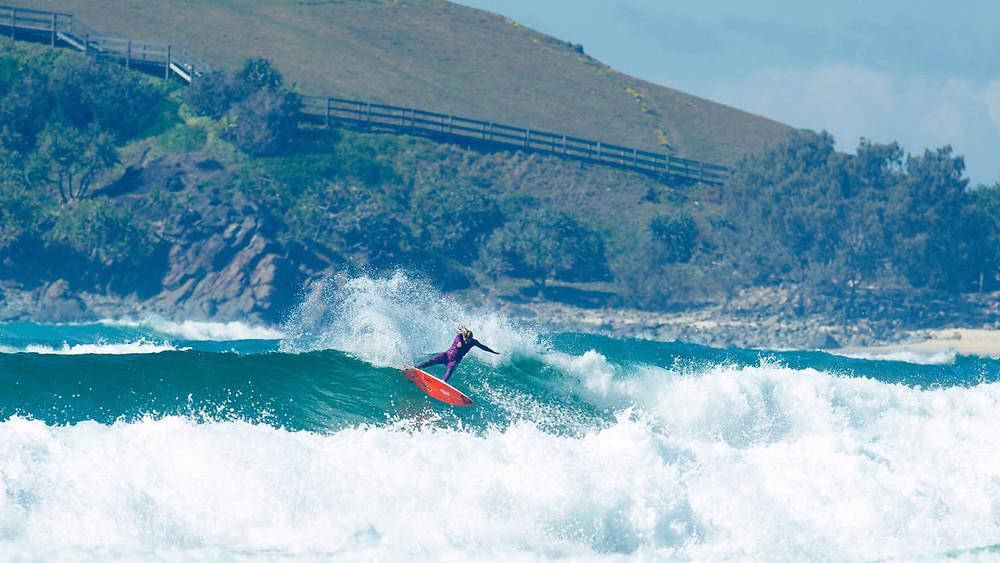 A surfista australiana Stephanie Gilmore, presença confirmada no Australian Gram Slam, evento da WSL