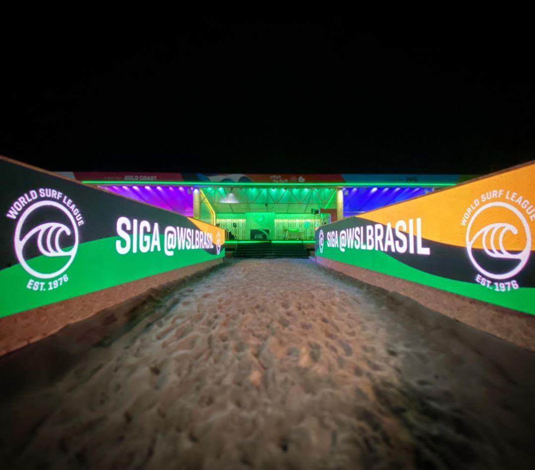 Imagens do Onda do Bem, evento da WSL