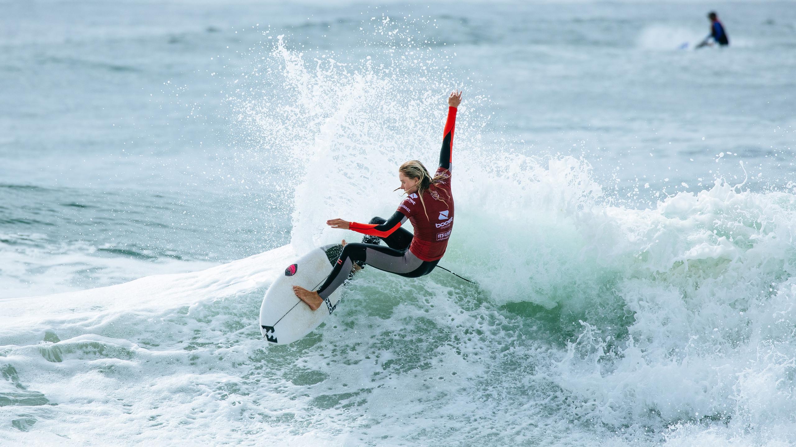 A surfista Macy Callaghan, um dos destaques do Boost Mobile Pro Gold Coast.