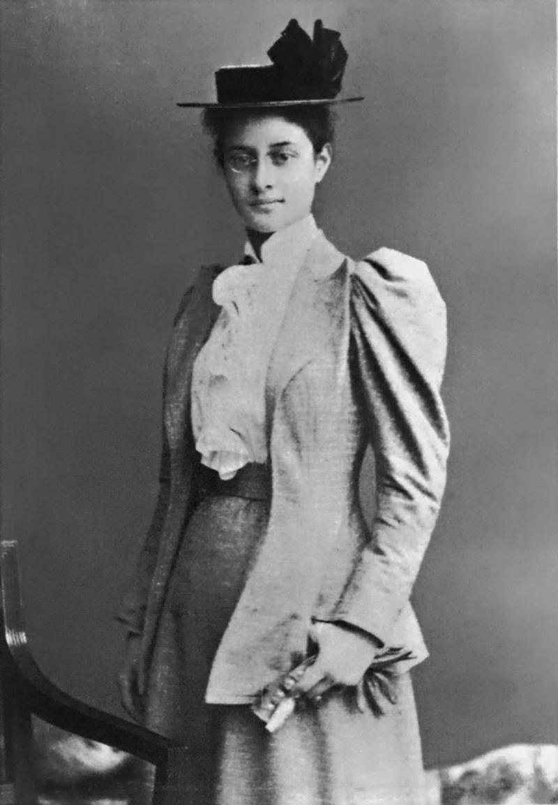 Princesa Ka'iulani em 1892 enquanto estudava em Londres, Inglaterra