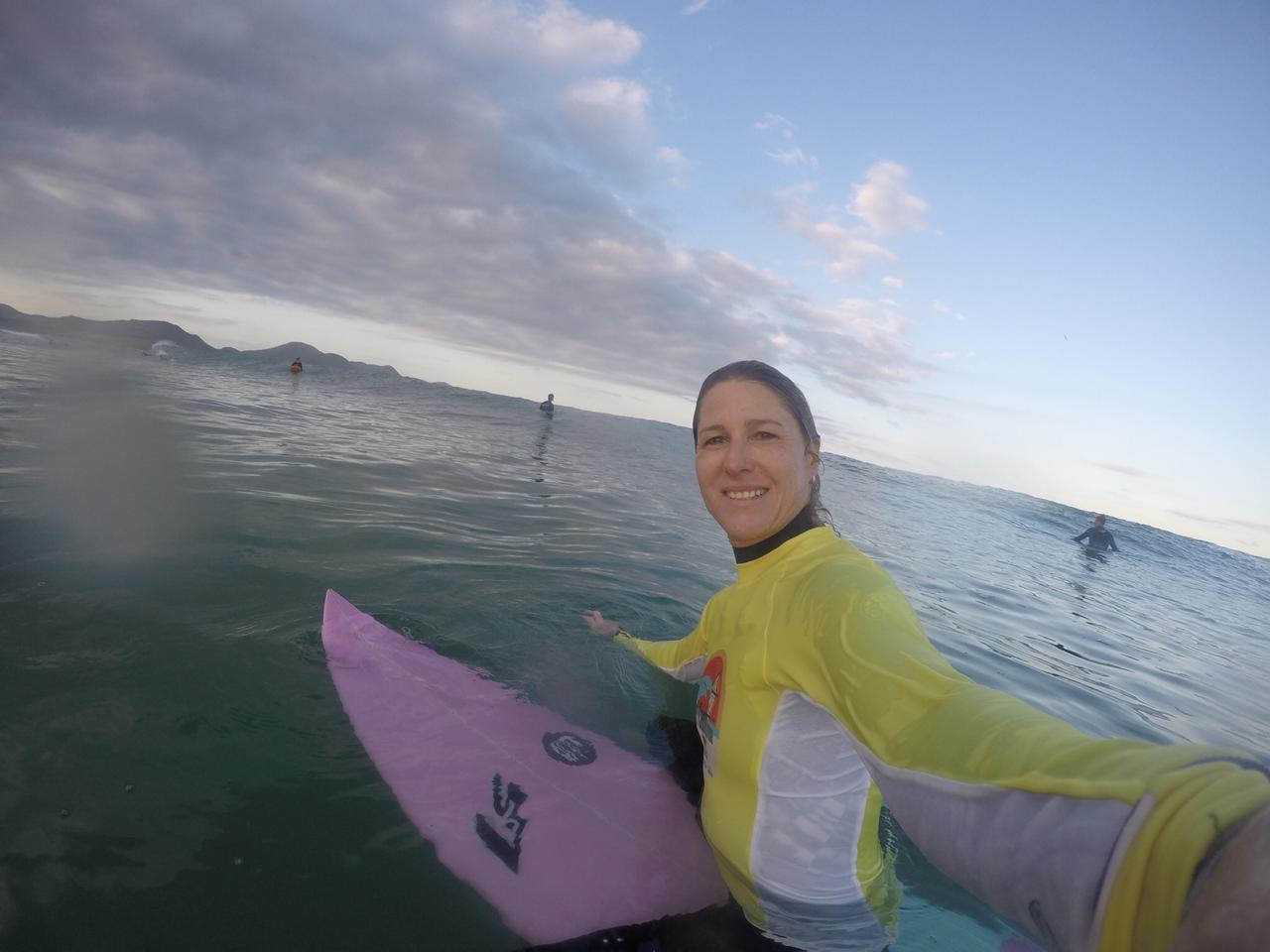 A surfista Jacqueline Silva