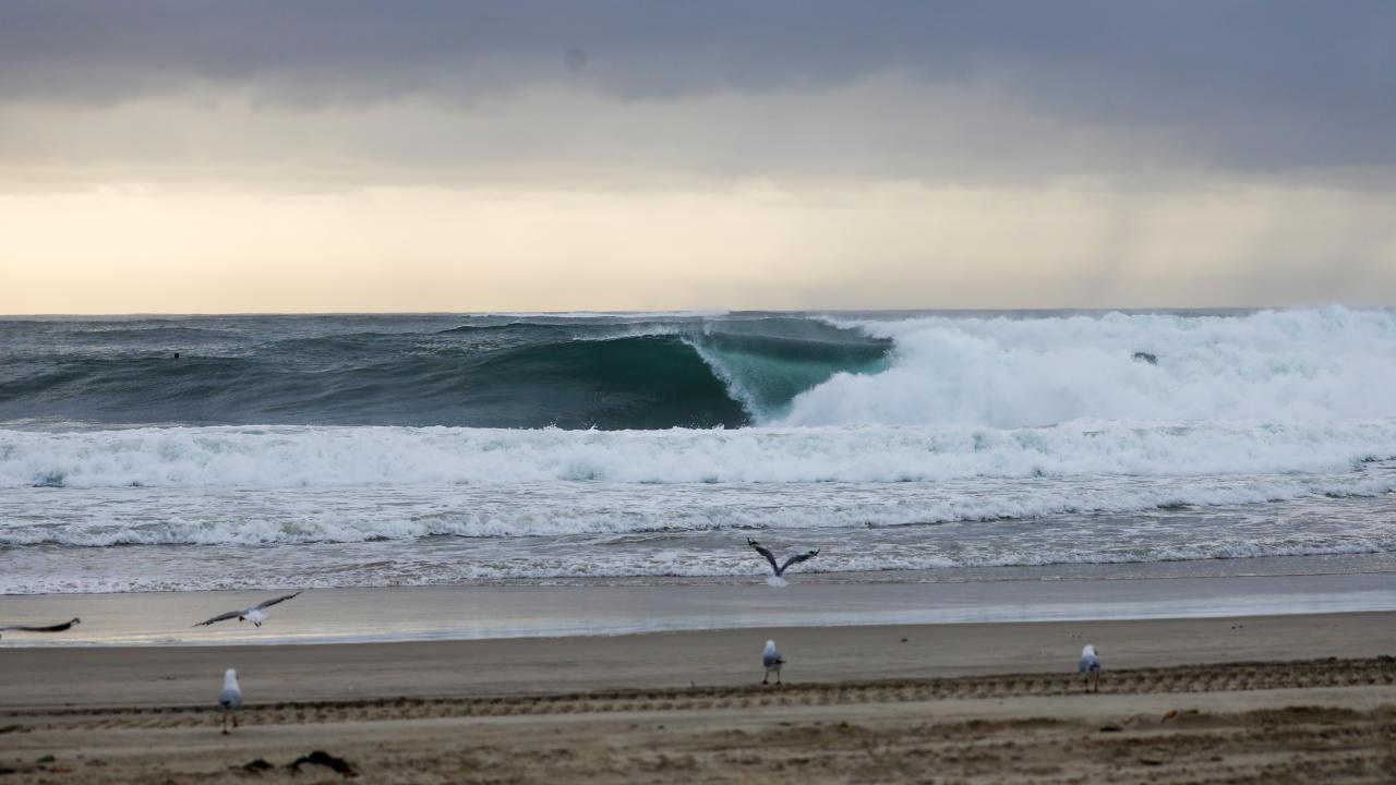 O mar no Boost Mobile Pro Gold Coast.