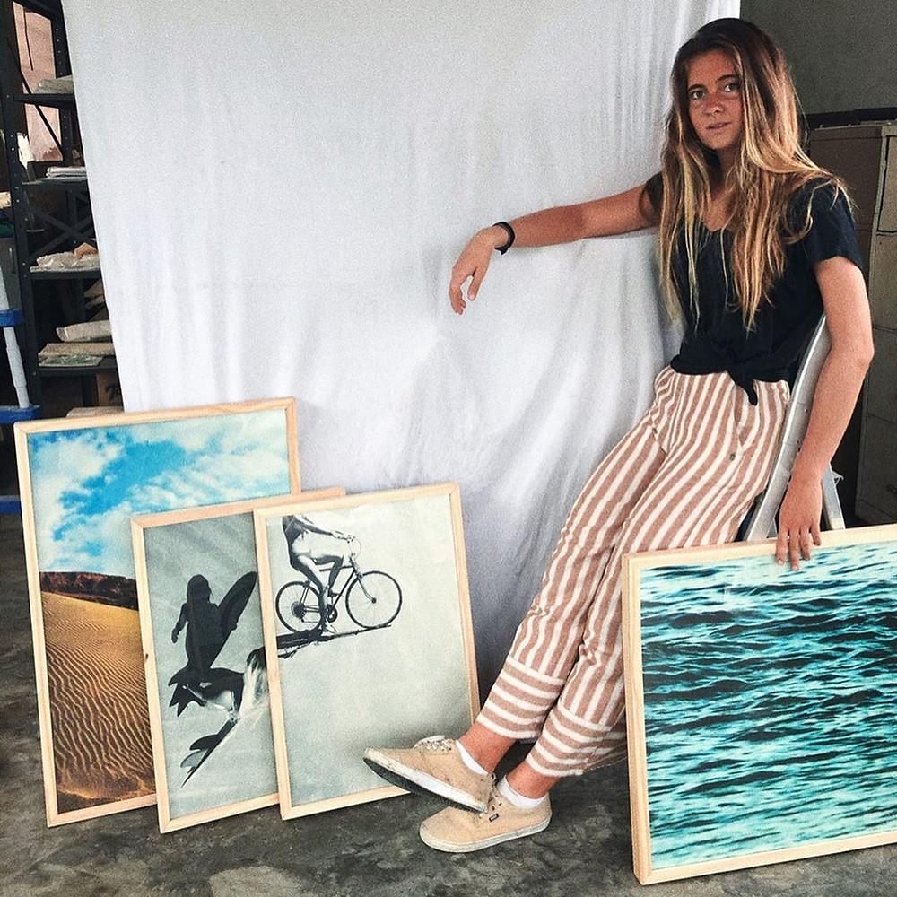 Gabriela Haydée, fotógrafa de surf natural de Santos, São Paulo