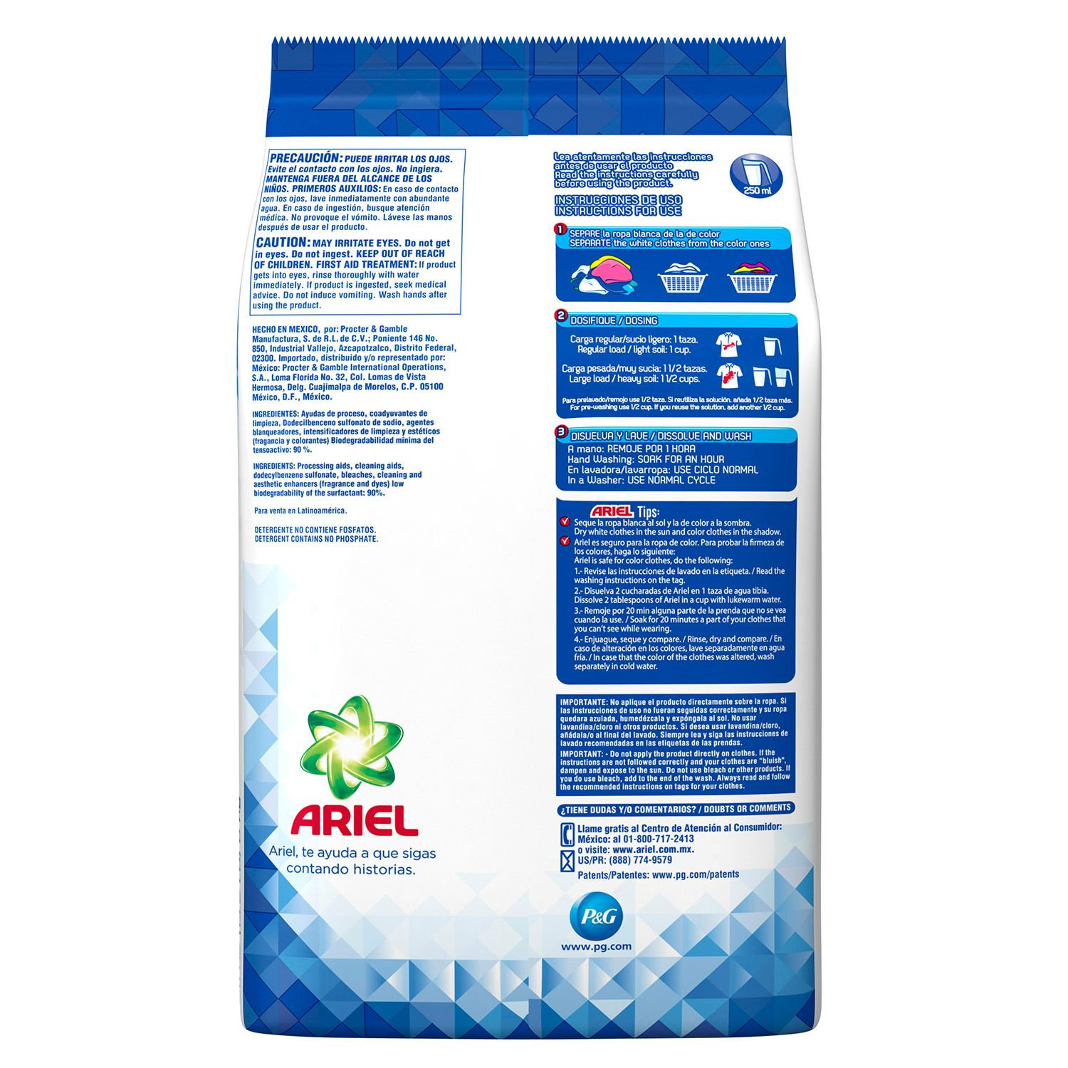 Ariel Powder Laundry Detergent, Original Scent 211 FL OZ | (42 LOADS)
