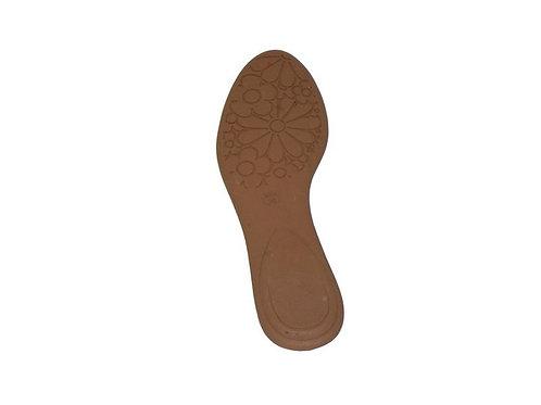 Solado p/ sapatilha bico redo/inf PVC com palmilha
