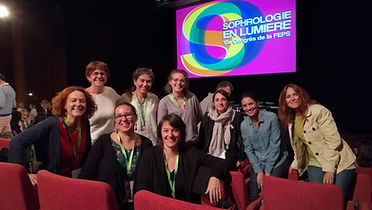 Sophrologues au congrès de Lyon