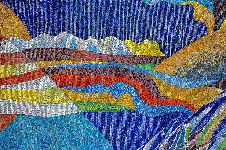 Paysage en mosaïque