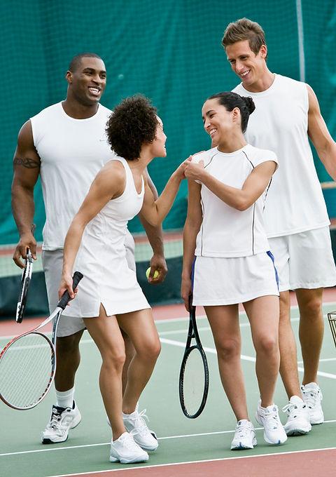 Aulas de tenis em grupos