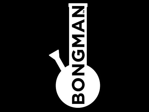 Bongman Logo - White Sticker