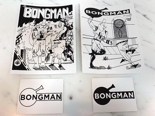 Bongman #1 & #2, Sticker Pack