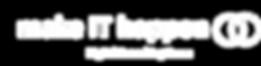 """#pracegover: logotipo escrito """"make it happen"""" com """"IT"""" maiúsculo, cor azul, seguido de dois círculos azuis que se encontram, sendo um em linha pontilhada ."""
