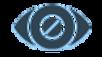 #pracegover: logotipo citizen blind experience, formato de um globo ocular azul escuro em  desenho estilizado