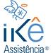 #pracegover: logotipo ikê assistência, com desenho de um anjo estilizado