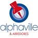 #pracegover: logotipo alphavile & arredores, startups de indicações e serviços, desenho de pin vermelho