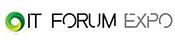 #pracegover: logotipo IT forum Expo, com desenho de círculo verde e amarelo
