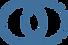 #pracegover: dois circulos azuis, um deles pontilhado, se encontram em sobreposição ao meio