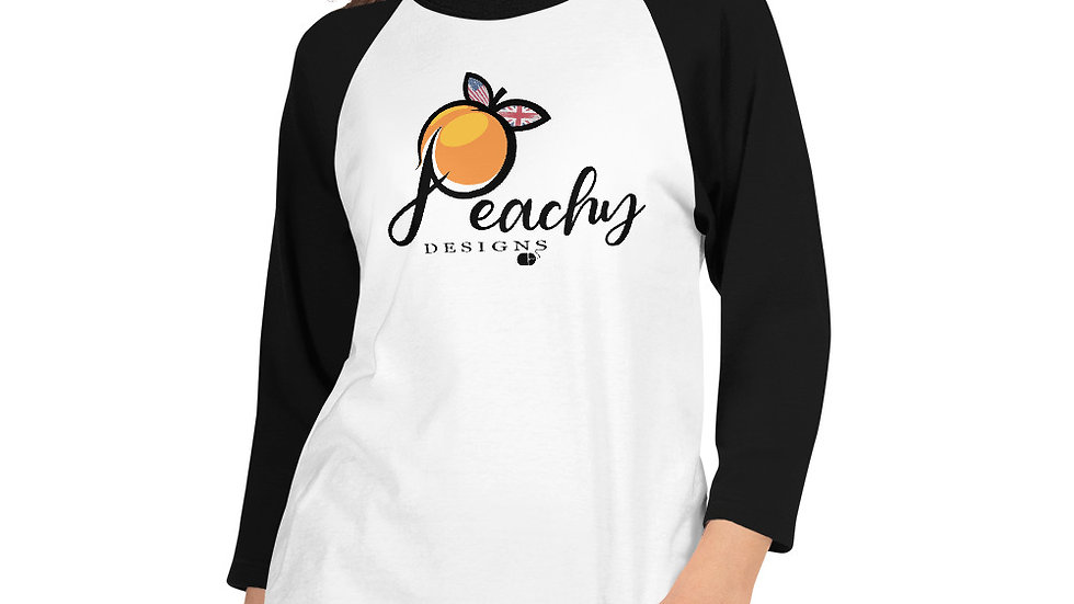 Peachy Designs 3/4 Sleeve Raglan Shirt
