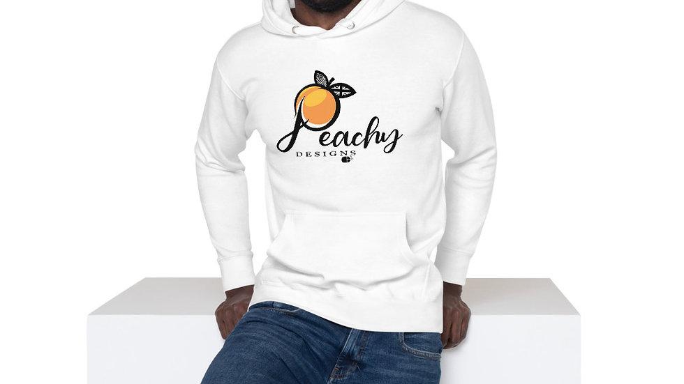 'Black' Peachy Designs Logo - PREMIUM Unisex Hoodie