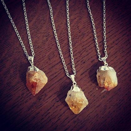 Citrine rock necklace
