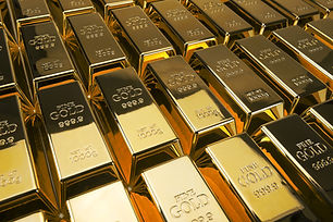 Gold bars and Financial concept, studio