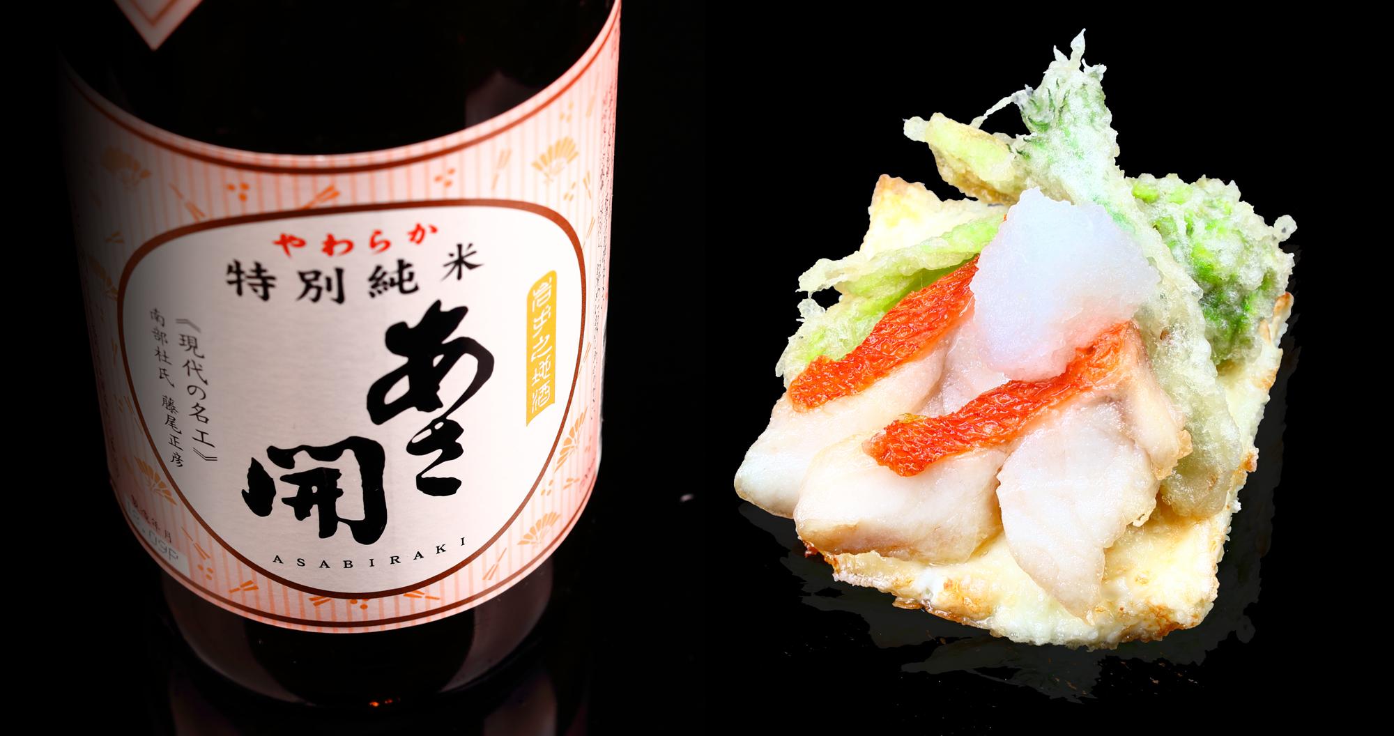 キンメ鯛牛乳豆腐