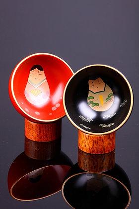 良いご夫婦の盃  木器杯 1810428