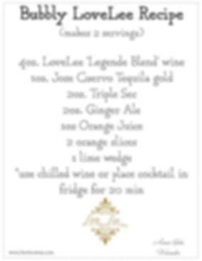 Bubbly Lovelee recipe.JPG