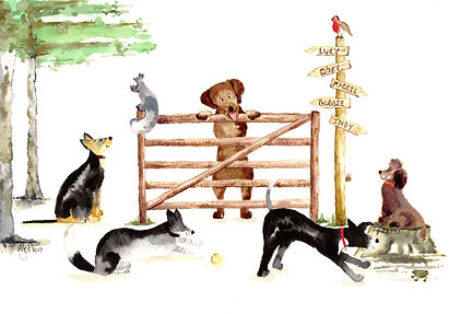 bespoke illustration 'Forest Dogs'